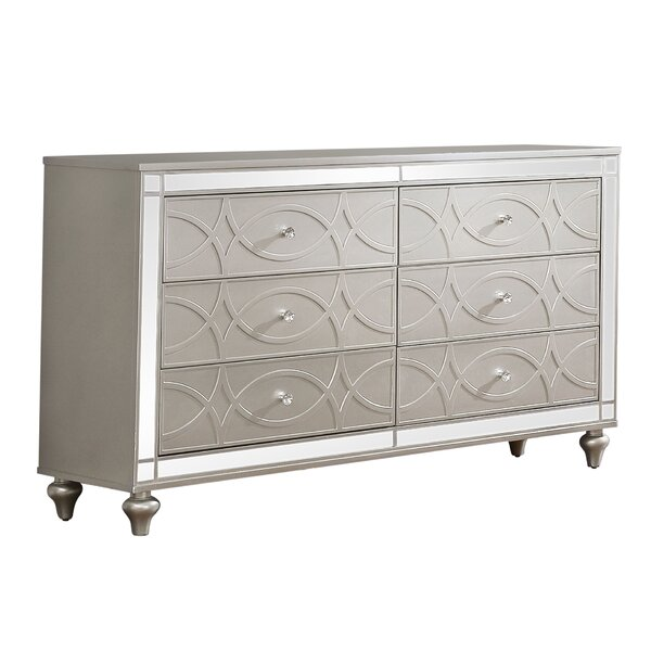 Cade 6 Drawer Double Dresser by Rosdorf Park