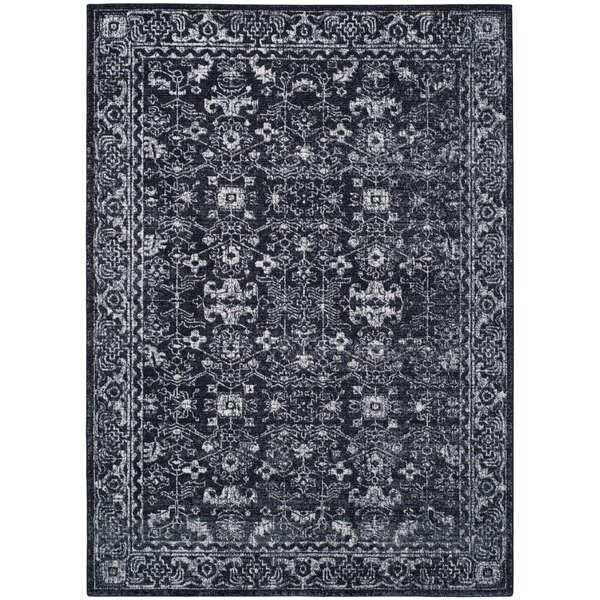 Bellagio Charcoal/Ivory Area Rug by Astoria Grand