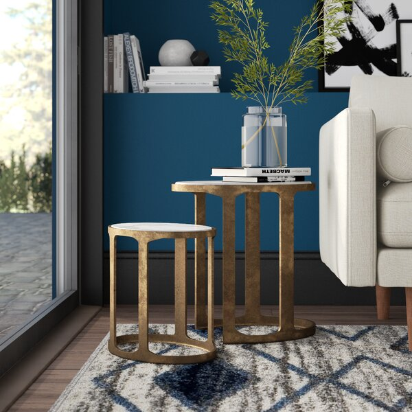 Sherer 2 Piece Nesting Tables by Mercury Row