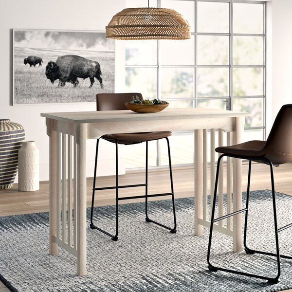 Araceli Counter Height Solid Wood Dining Table by Mistana
