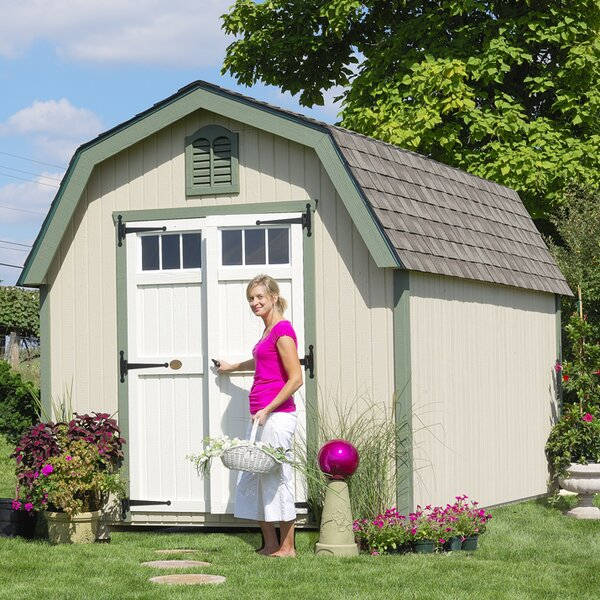 Colonial Greenfield Wooden Storage Shed by Little Cottage Company