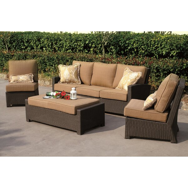 Stockholm 4 Piece Sofa Set with Cushions by Alcott Hill