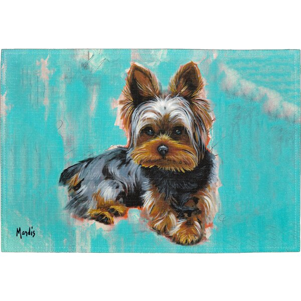 Yorkie Placemat (Set of 2) by East Urban Home