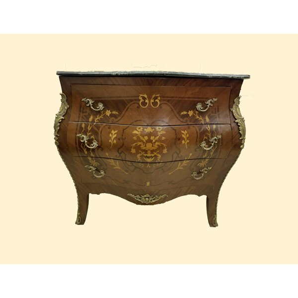 Louis XV 3 Drawer Accent Chest