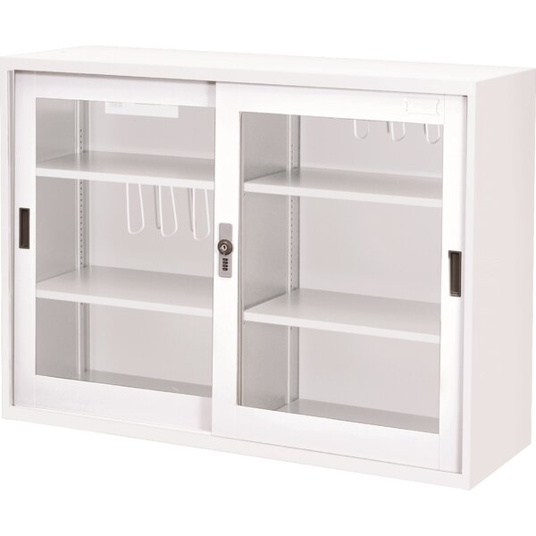 46.5 Glass Doors with Lock Storage Cabinet by Symple Stuff