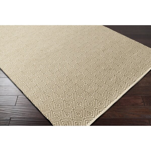Waverly Hand-Woven Green/Red Area Rug by Bungalow Rose