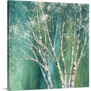 'Blue Birch II' by Julia Purinton Painting Print on Wrapped Canvas by Great Big Canvas