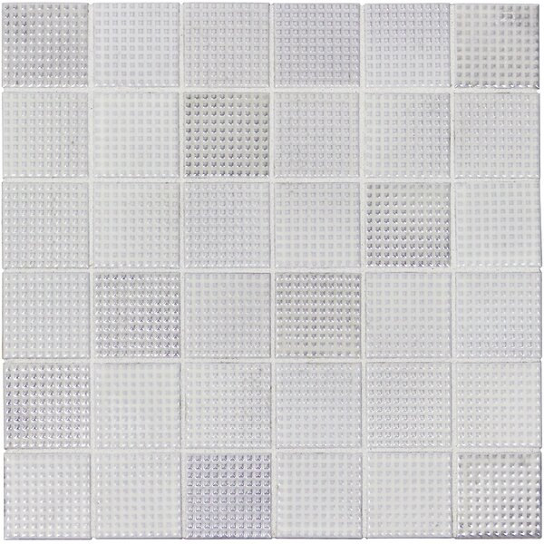Keijo 2 x 2 Porcelain Mosaic Tile in Shiro by Solistone