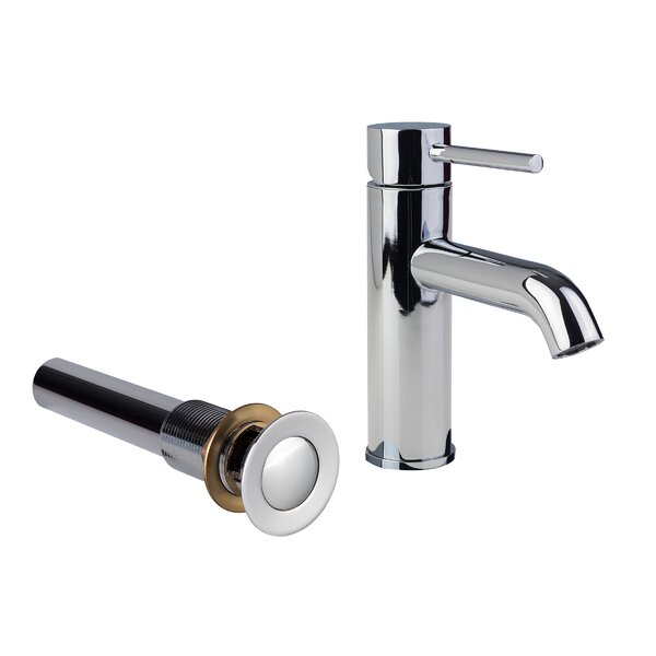European Single Hole Lever Handle Bathroom Faucet with Drain Assembly by Fontaine by Italia