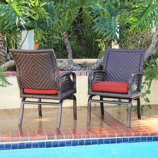 Shawny Patio Chair with Cushion (Set of 2) by Bayou Breeze