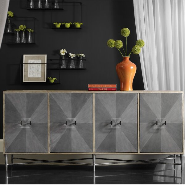 Melange Zola 4-Door Credenza by Hooker Furniture