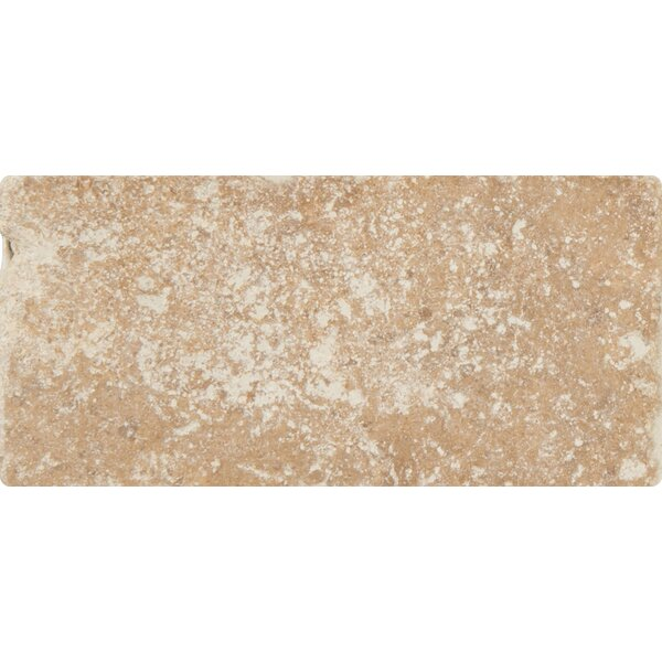 Tuscany Walnut 3 x 6'' Travertine Subway Tile in Tumbled Brown by MSI