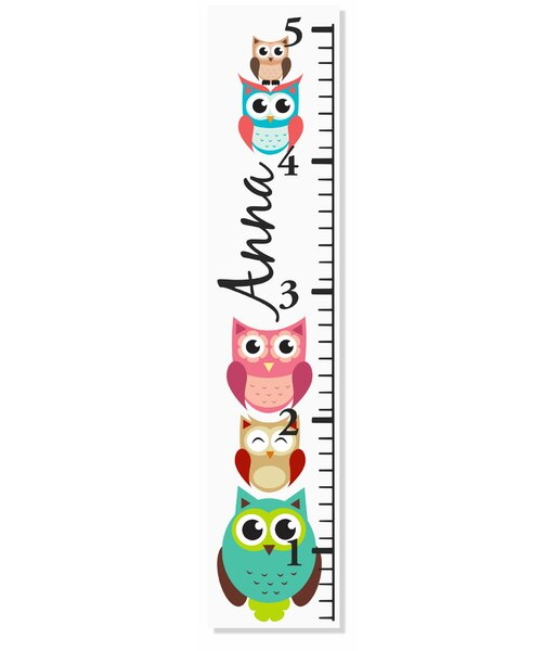 Owl Growth Chart by Decor Designs  Decals