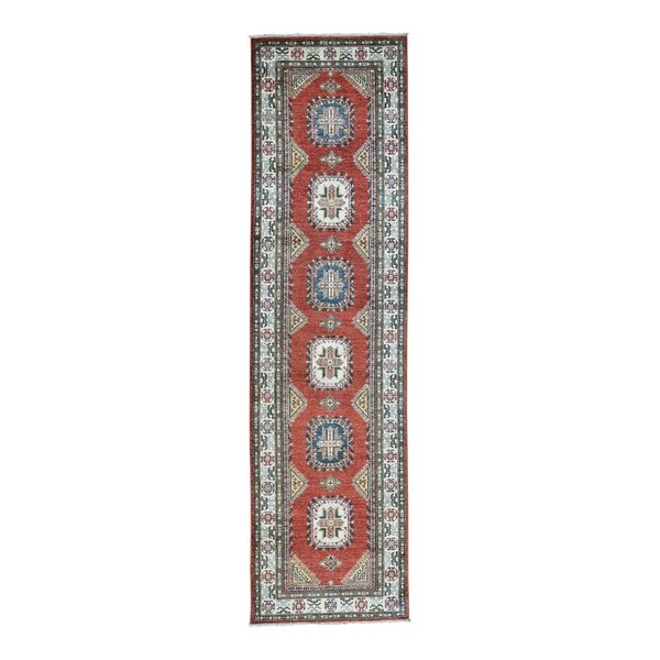One-of-a-Kind Dorcey Kazak Super Oriental Hand-Knotted Wool Red Area Rug by Canora Grey