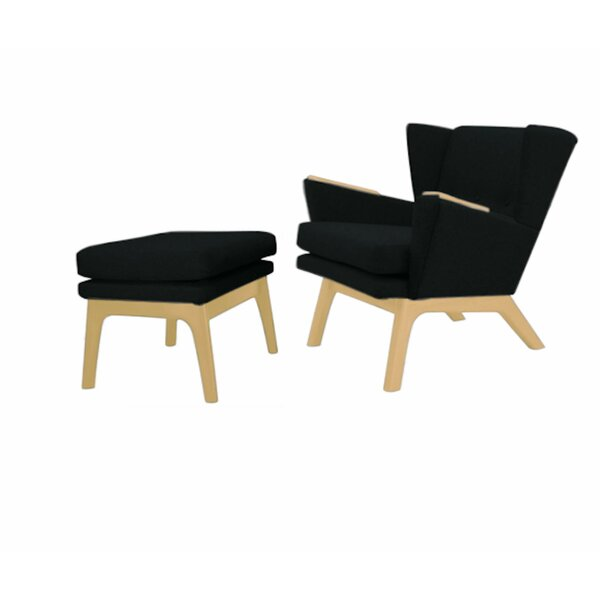Haddam Wingback Lounge Chair and Ottoman by Brayden Studio