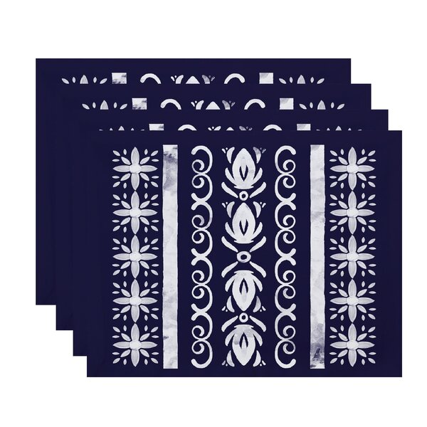 Willems Tile 2 Placemat (Set of 4) by Latitude Run