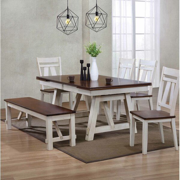 Keturah 6 Piece Extendable Dining Set by August Grove