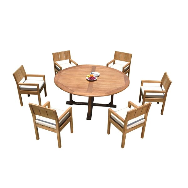 Jabari 7 Piece Teak Dining Set by Rosecliff Heights