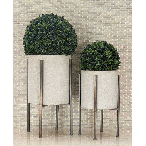 Bissonnette 2-Piece Iron Pot Planter Set by George Oliver