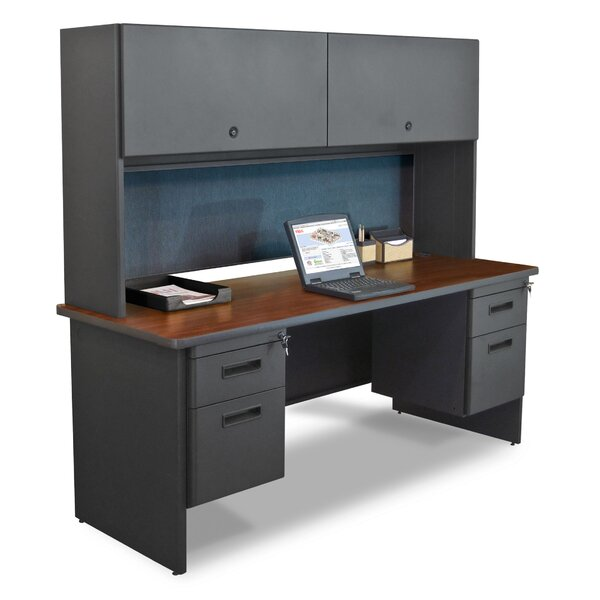 Pronto Lock Computer Desk with Hutch by Marvel Office Furniture