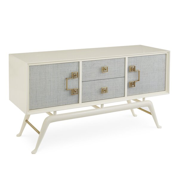 54'' Wide 2 Drawer Mahogany Wood Credenza By Jonathan Adler