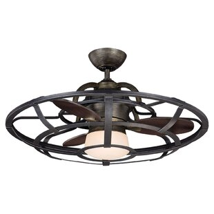 26 Wilburton 3 Blade Outdoor Ceiling Fan with Remote By Laurel Foundry Modern Farmhouse
