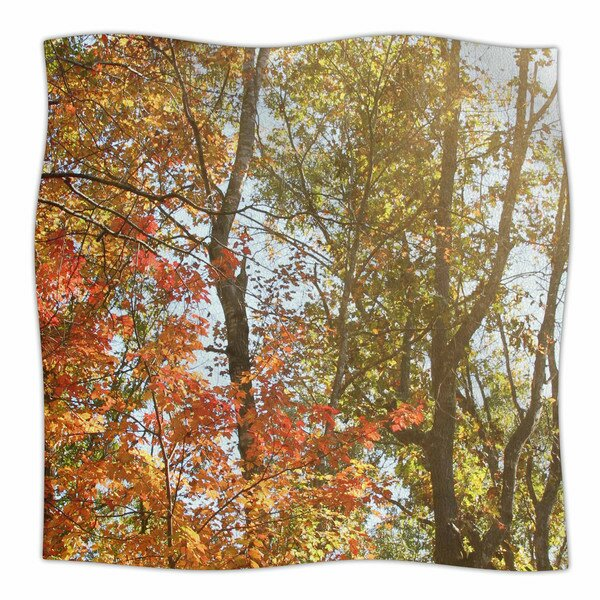 Autumn Trees 1 by Sylvia Coomes Fleece Blanket by East Urban Home