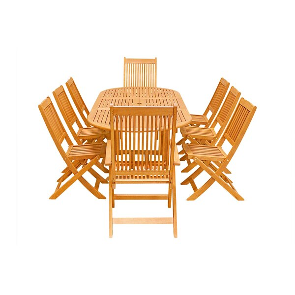 Columbia 9-Piece Dining Set by Rosecliff Heights