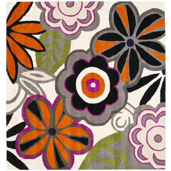 Chidi Floral Area Rug by Ebern Designs