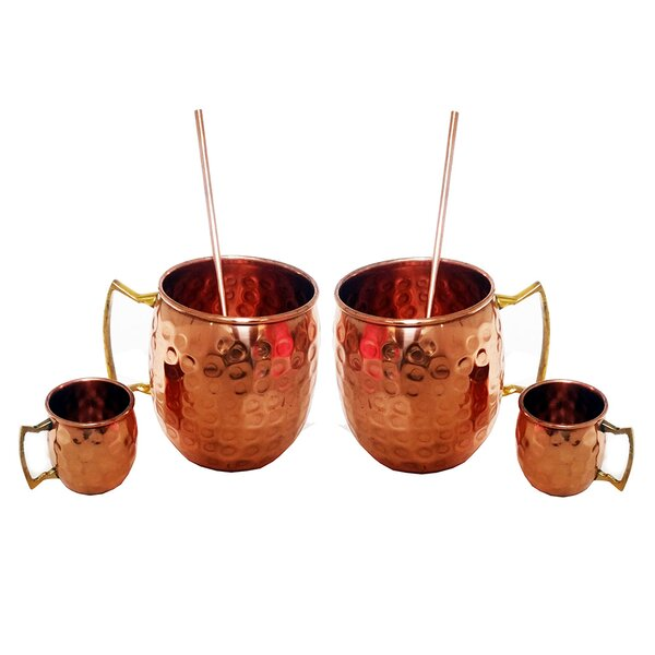 Heile 6 Piece Copper Assorted Glassware Set by Ebern Designs