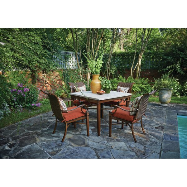 Panama 5 Piece Sunbrella Dining Set with Cushions by Peak Season Inc.