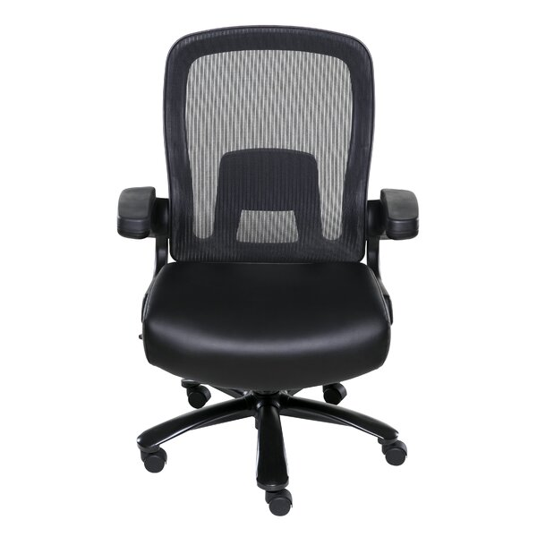 High-Back Mesh Executive Chair with Pocket Coil Seat Cushioning by Symple Stuff