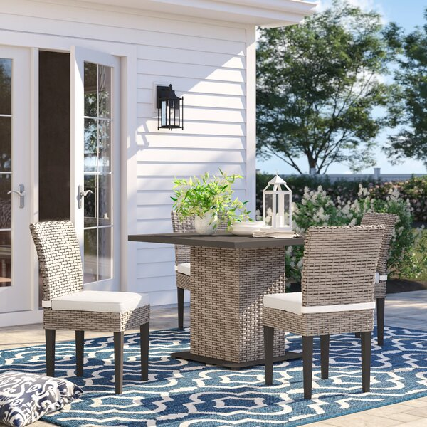 Rockport 5 Piece Dining Set with Cushions by Sol 72 Outdoor