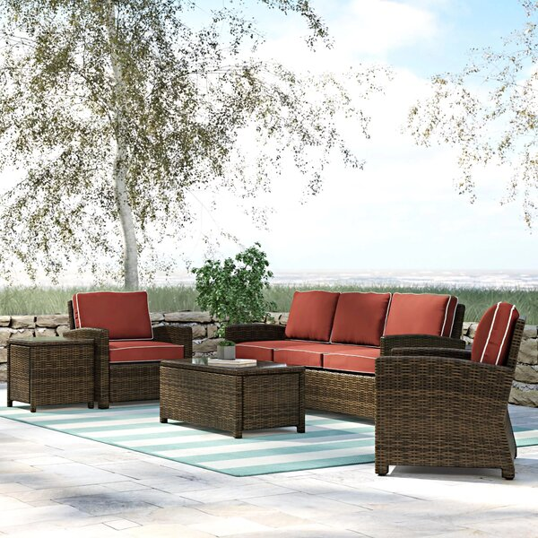 Lawson 5 Piece Sofa Seating Group with Cushions by Birch Lane™ Heritage