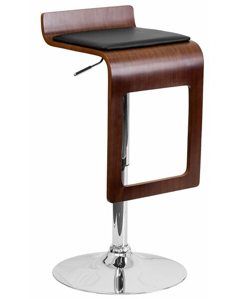 Crotty Adjustable Height Swivel Bar Stool by George Oliver George Oliver