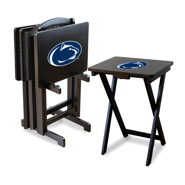 NCAA 4 Piece TV Tray Set with Stand by Imperial International