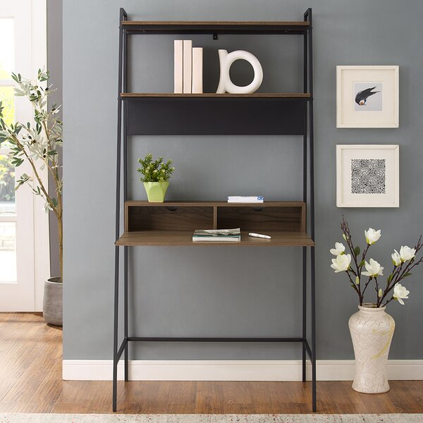 Pettit Metal and Wood Ladder Desk by Union Rustic