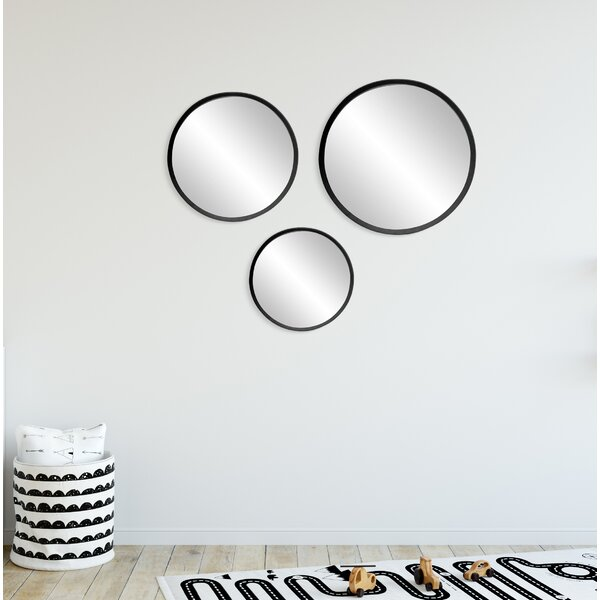 Boylon 3 Piece Round Mirror Set by Latitude Run