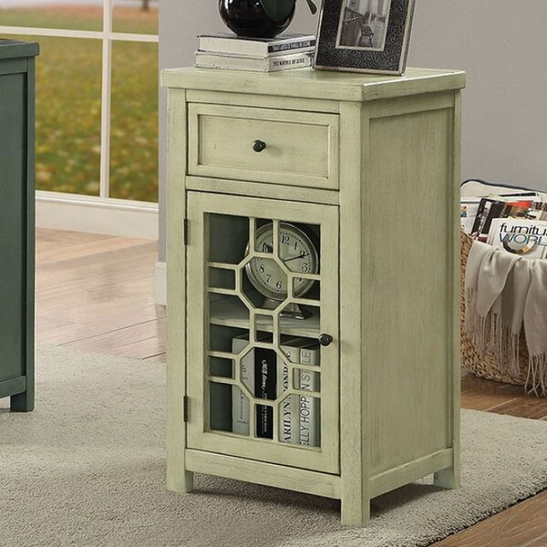 Otsego Transitional End Table with Storage by Ophelia & Co.