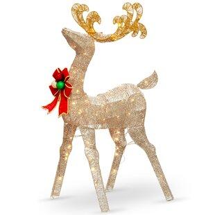 Metal Reindeer Decorations | Wayfair