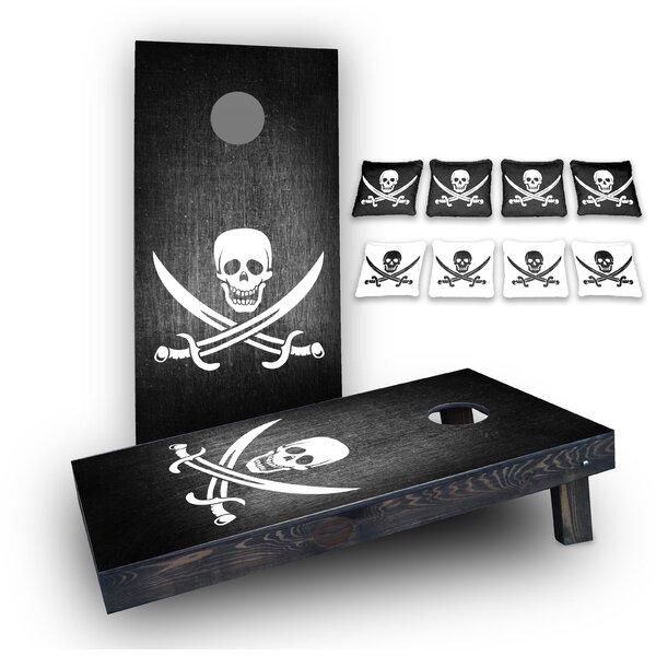 Pirate Custom 10 Piece Cornhole Board Set by Custom Cornhole Boards