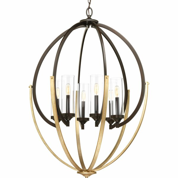 Zaleski 6-Light Candle Style Globe Chandelier by Brayden Studio Brayden Studio