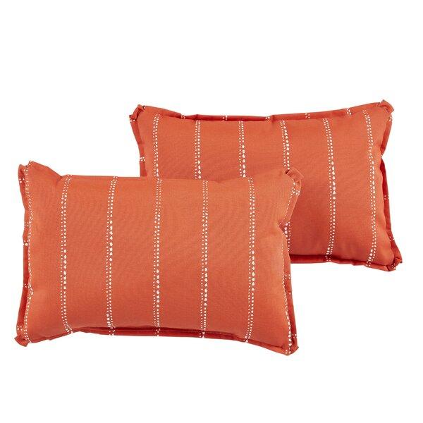 Balentine Water-Resistant Indoor/Outdoor Lumbar Pillow (Set of 2) by Wade Logan