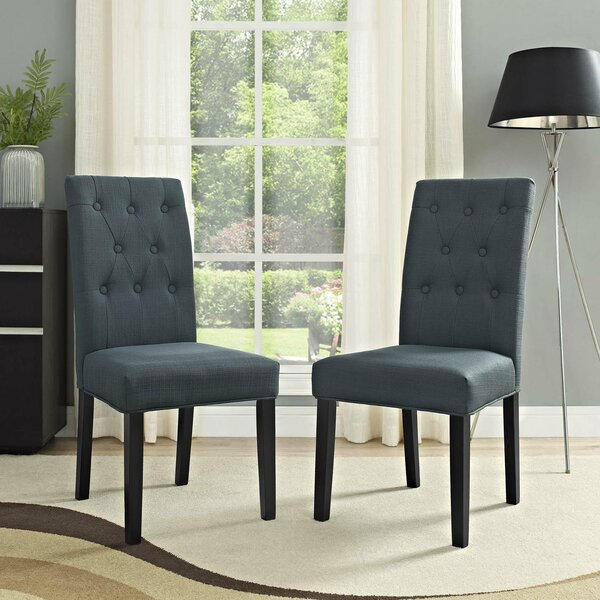 Androscogin Upholstered Dining Chair (Set of 2) by Charlton Home
