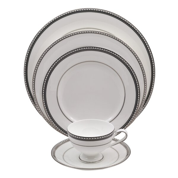 Classic Chablis 5 Piece Bone China Place Setting, Service for 1 (Set of 4) by Shinepukur Ceramics USA, Inc.