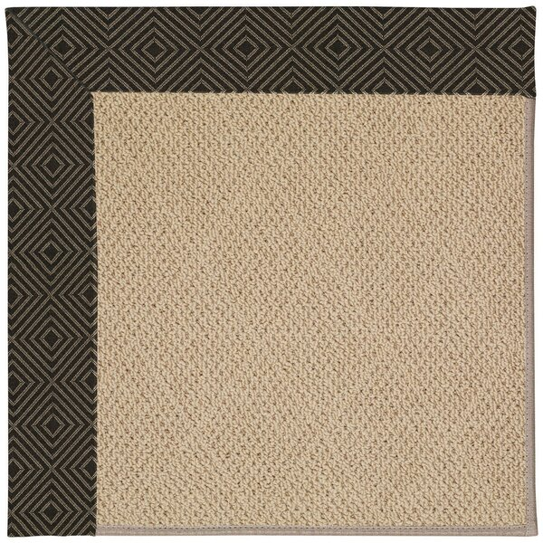 Lisle Machine Tufted Magma/Brown Indoor/Outdoor Area Rug by Longshore Tides