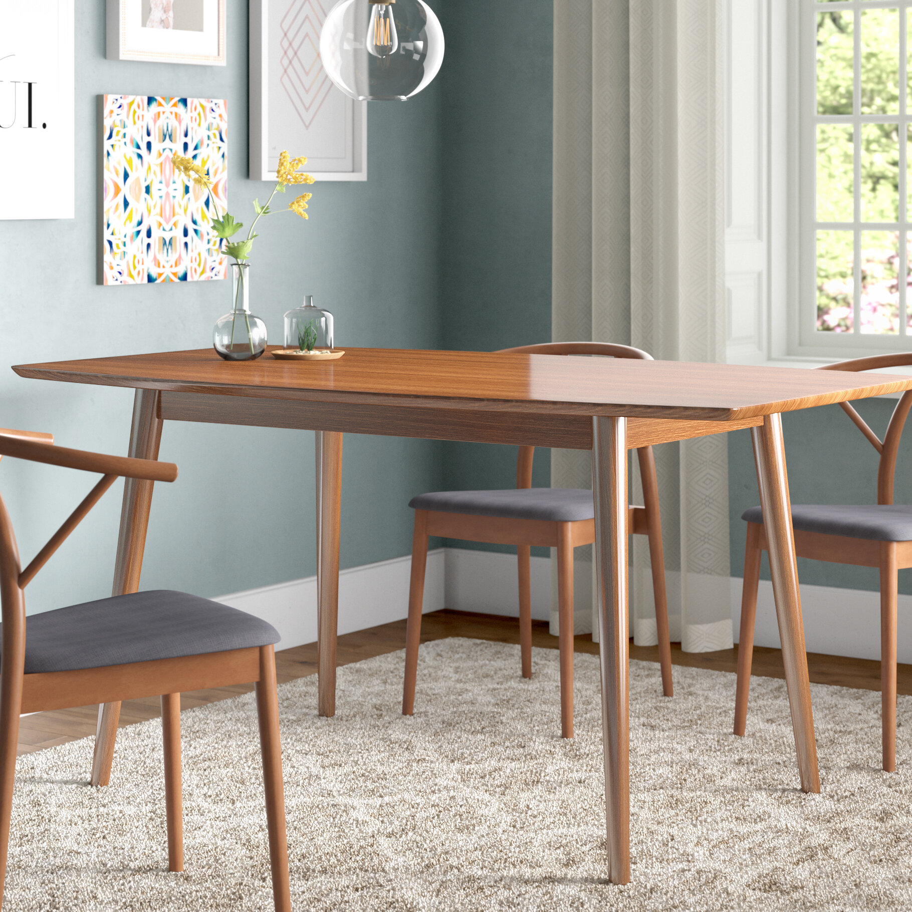 Great Corrigan Studio Weller Mid Century Dining Table U0026 Reviews   Wayfair