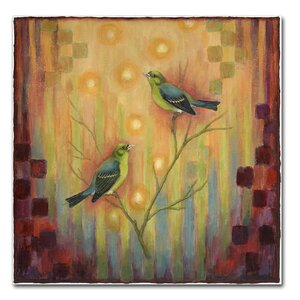 Birds Sunset by Rachel Paxton Painting Print on Wrapped Canvas by Trademark Fine Art