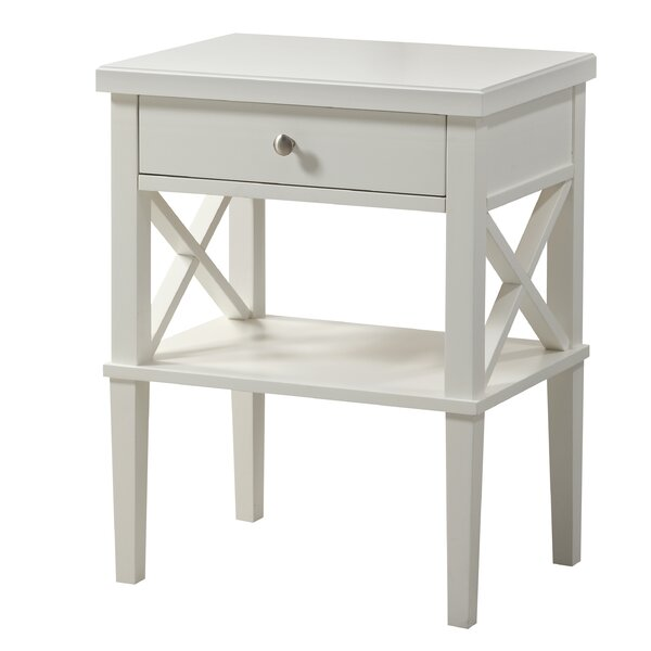 Silvestri 1 Drawer Nightstand by Andover Mills