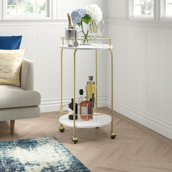 Laskey Bar Cart by Mercer41 Mercer41